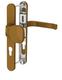 Dveřní klika K-KO zlatá (imitace bronzu), štít 32, rozteč 92