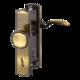 Vchodové kliky H Meran široký štít klika-madlo rozteč 92mm