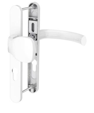 Dveřní klika K-KO bílá, štít 36, rozteč 92, s překrytím(117.9016.36.92.AR)