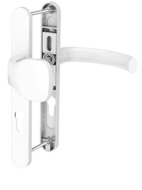 Dveřní klika K-KO bílá, štít 52, rozteč 92, s překrytím_(117.9016.52.92.AR)