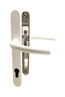 Dveřní klika K-K bílá RAL9016, štít 30, rozteč 92, s vrat. pružinou(20999H)