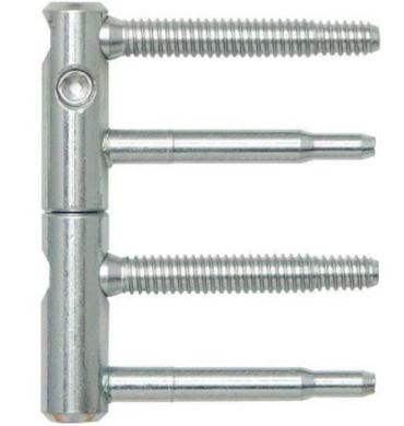 Dveřní závěs 14mm - bílý pozink(710893)