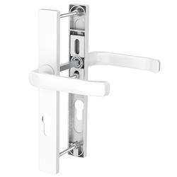 Dveřní klika K-K bílá, štít 32, rozteč 92