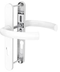 Dveřní klika K-K bílá, štít 36, rozteč 92, s překrytím