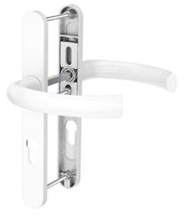 Dveřní klika K-K bílá, štít 52, rozteč 92, s překrytím