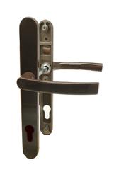 Dveřní klika K-K hnědá RAL8019, štít 30,rozteč 92, s vrat. pruž.,rozteč Hop