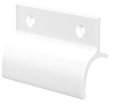 Hliníkové madélko s osazením bílé RAL9016