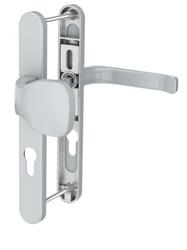 Dveřní klika K-KO stříbrná, štít 32, rozteč 92