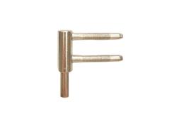 Spodní díl 15mm, kovový trn, bílý pozink