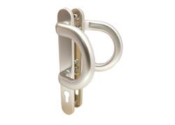Oboustranné dveřní madlo P stříbrné F01, ÚŠ