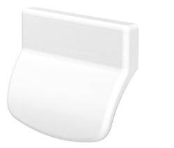 Plastové madélko bílé RAL 9016