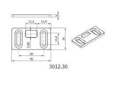 Protikus zástrče 25x45mm