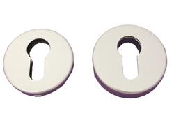 Rozeta kulatá, stříbrná F01 - pár