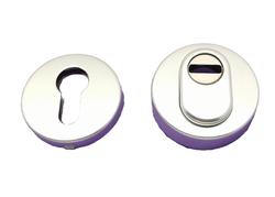 Rozeta kulatá s překrytím, stříbrná F01 - pár