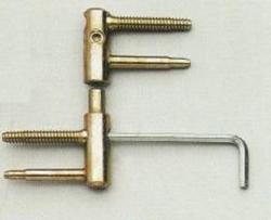 Dveřní závěs 15mm - bílý pozink s bezpečnostní pojistkou