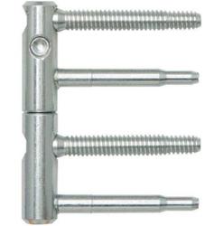 Dveřní závěs 14mm - bílý pozink