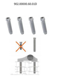 Šrouby pro Alu Jocker 2D 60mm (sada 4 ks šroubů)