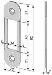 Protikus 82x22 mm, oválný