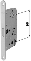 Zadlabávací magnetický zámek 96/76/18 dorn 50, WC, bílý zinek