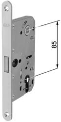 Zadlabávací magnetický zámek 85/76/18 dorn 50, vložkový zámek, bílý zinek