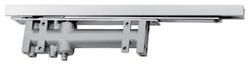Dveřní zavírač integrovaný, s vodicí lištou a nastavením trv.otevření - stříbrný