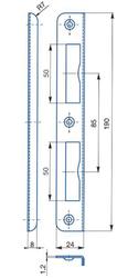 Protikus univerzální úhlový 24x190, oblé hrany, stříbrný