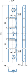 Protikus univerzální úhlový 20,6x200, stříbrný + plastová vanička