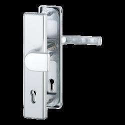 Vchodové kliky H London široký štít klika-madlo rozteč 92mm