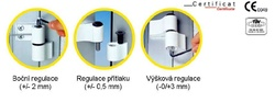 Závěsy pro hliníkové dveře Mechanica 2-dílné rozteč 84(es000258)